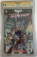 Justice League (New 52) #11 CGC 9.8 Signature Series by Jim Lee